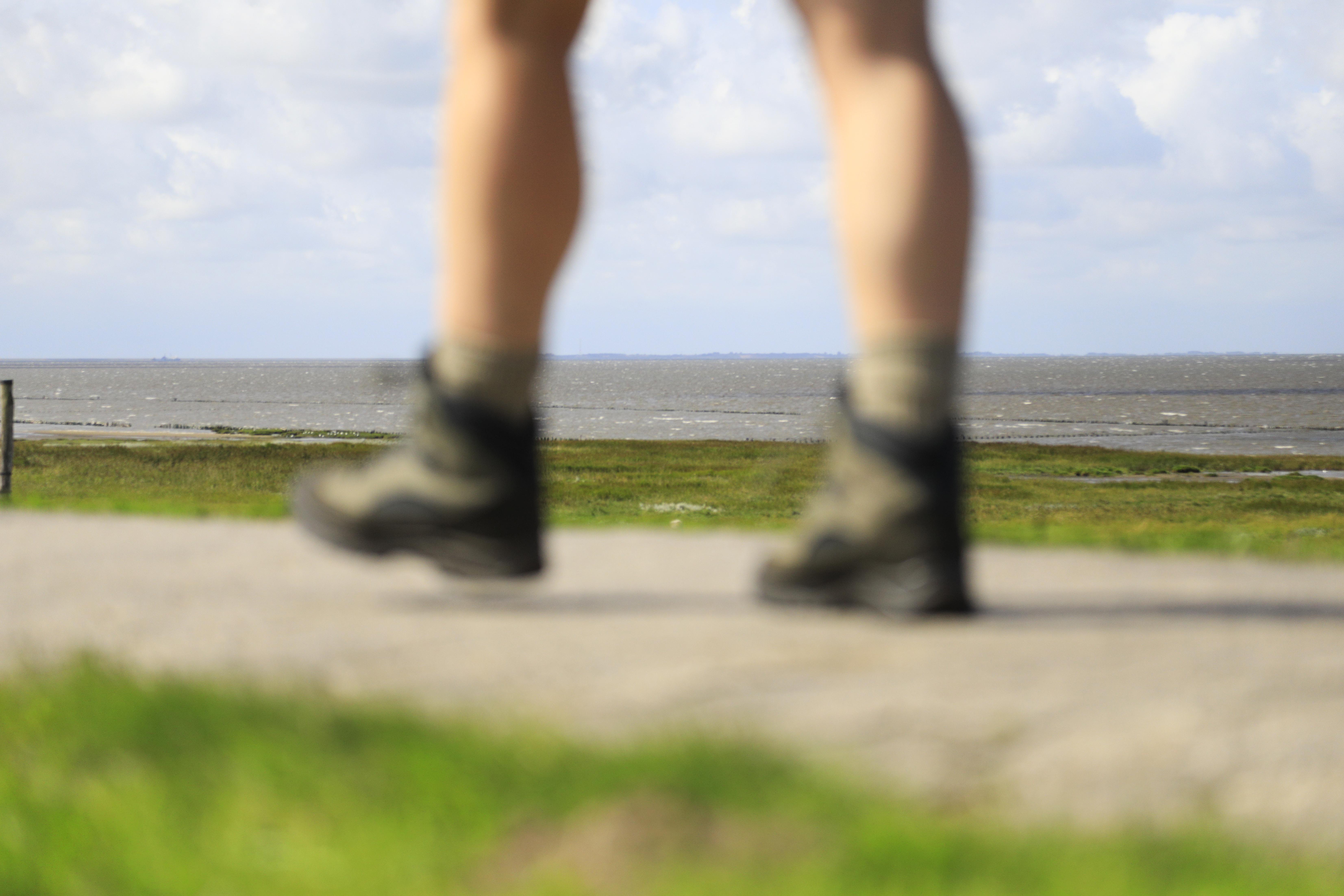 ben med støvler
