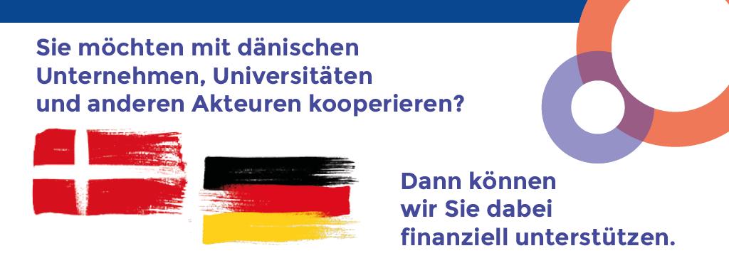 Kooperation mit Dänischen Universitäten, Unternehmen und Akteuren? Wir können Sie unterstützen. Interreg5a