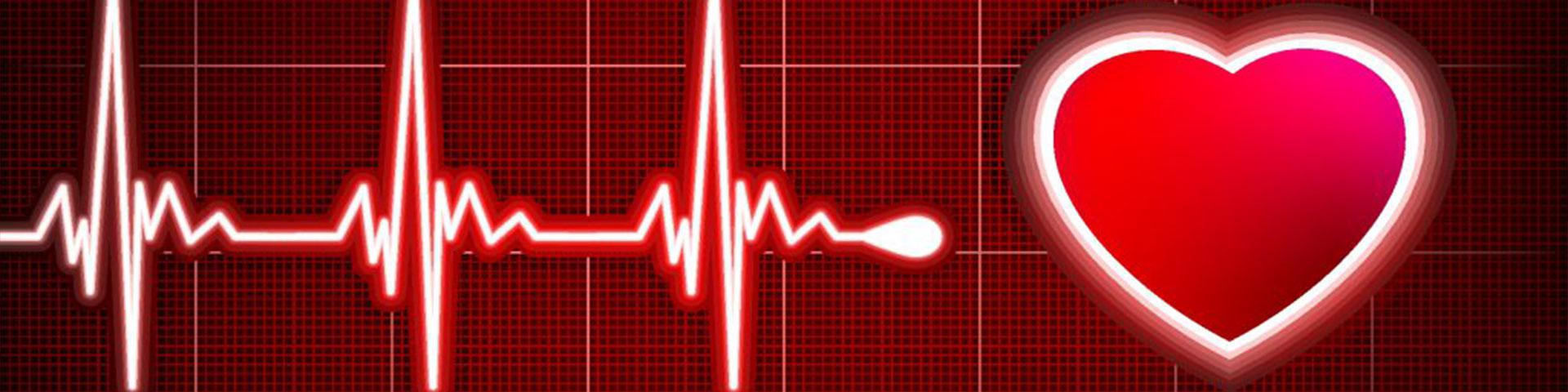 Grafik vom Herzschlag