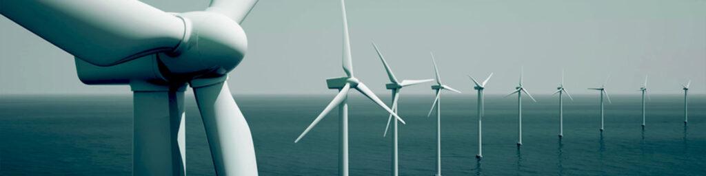 Bild mit Windrädern