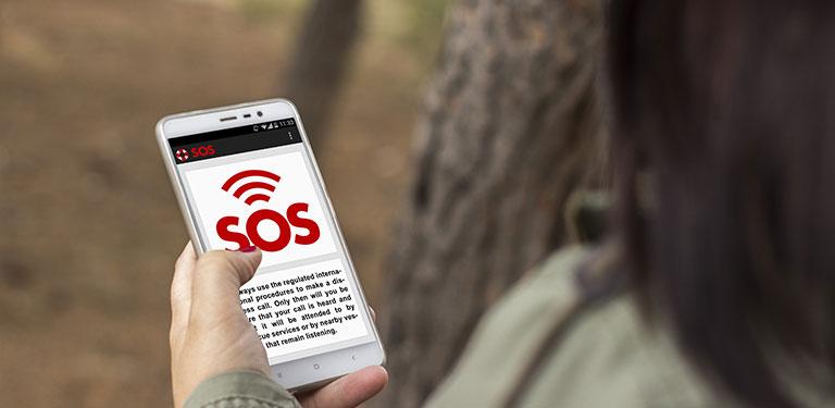 Handy zeigt sos-app