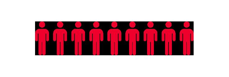 Icon Personen in grenzüberschreitenden Maßnahmen - 9/9 Figuren
