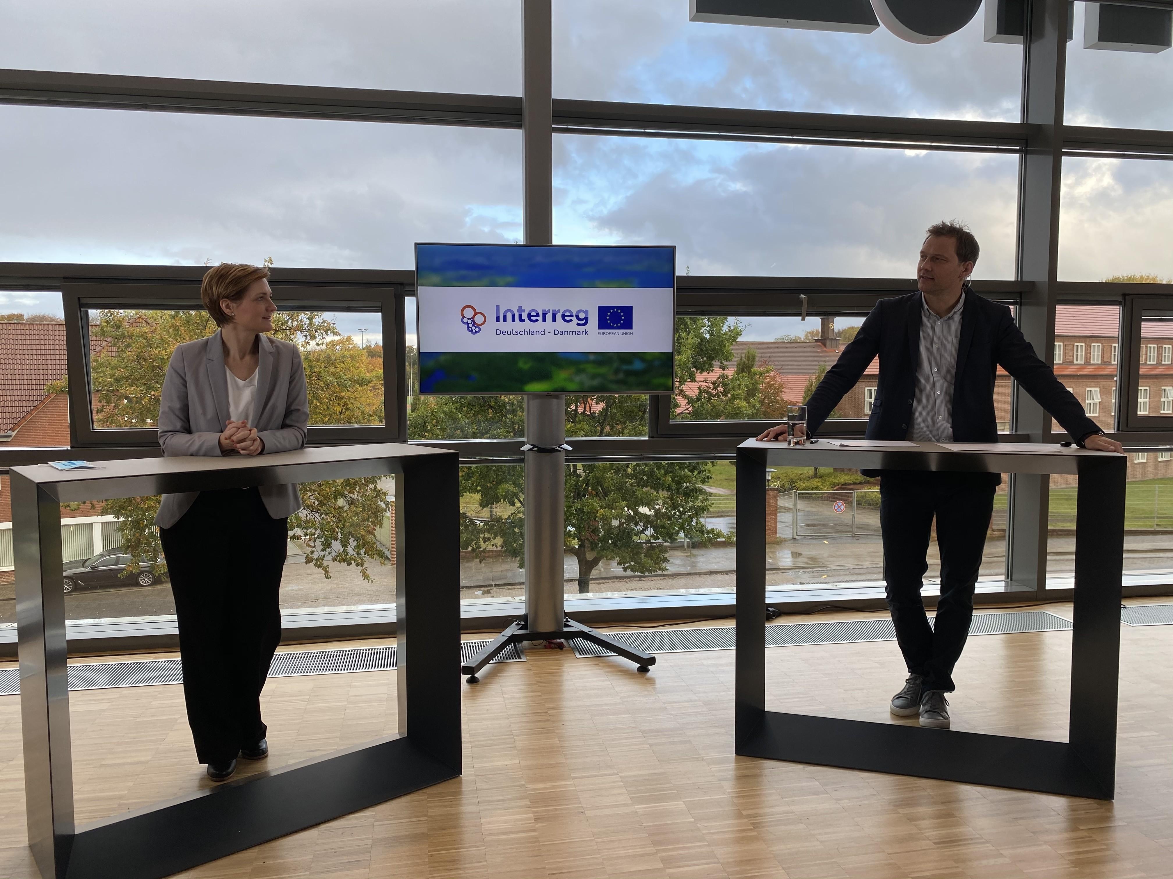 Simone Lange, Oberbürgermeisterin Stadt Flensburg & Stephan Kleinschmidt, Dezernent für Projektkoordination, Dialog und Image, Stadt Flensburg