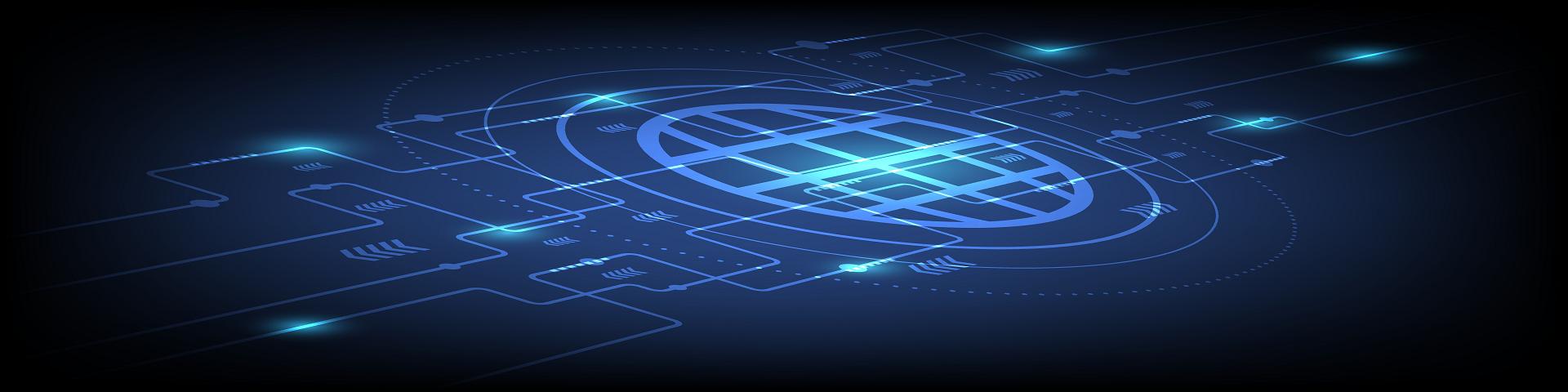 Headerbild mit futuristischer chip-grafik