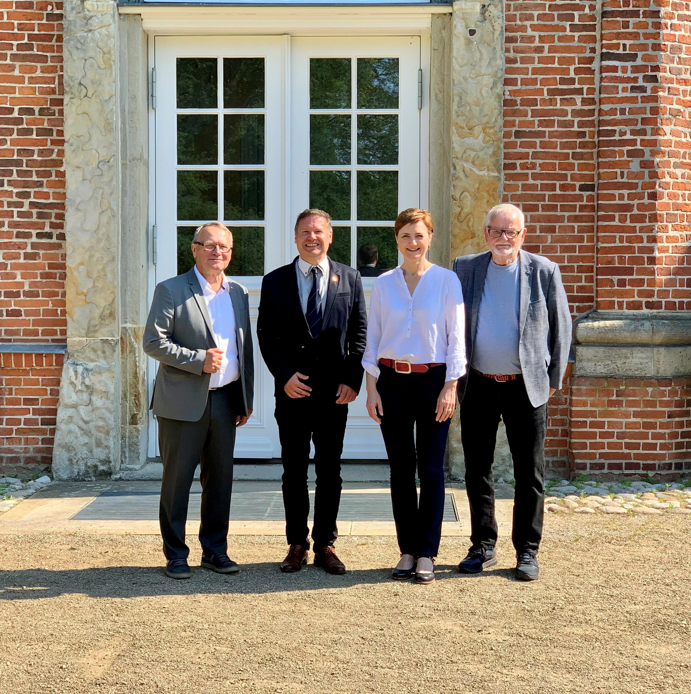 Preben Jensen, Stefan Leyk, Simone Lange und Freddy Blak. Gruppenbild der Vorsitzenden