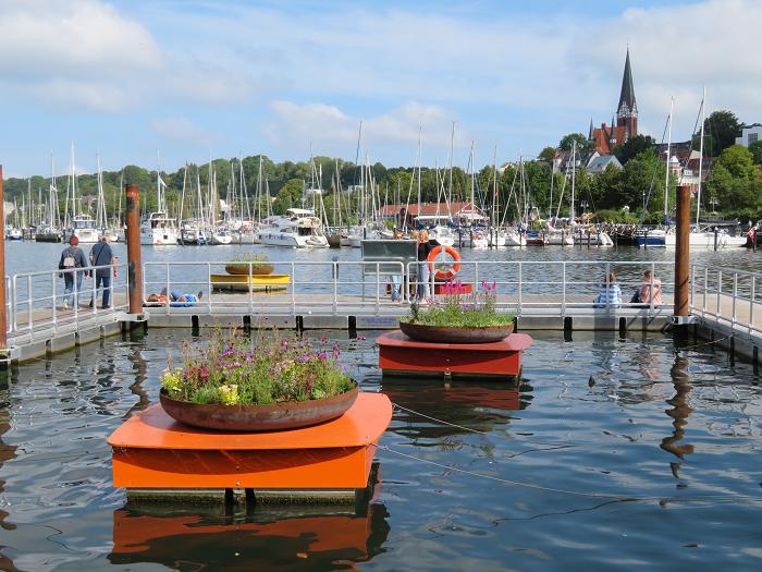 Blumeninseln in Flensburg