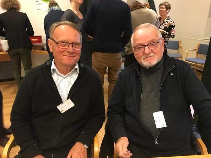 Die dänischen Vorsitzenden Preben Jensen und Freddy Blak