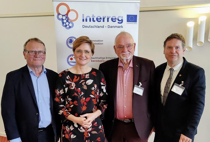 Die Vorsitzenden: Preben Jensen, Simone Lange, Freddy Blak und Stefan Leyk