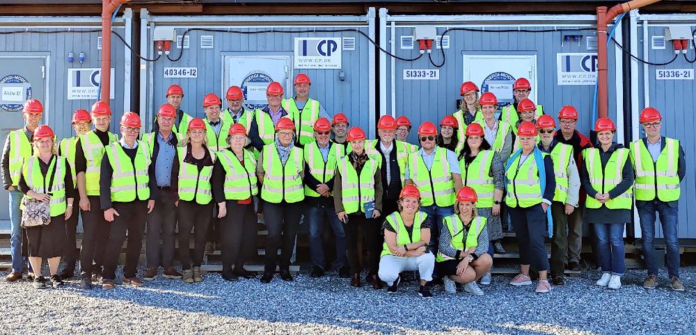 Interreg-Ausschuss besucht die Großbaustelle für den Bau des Fehmarnbelt-Tunnels